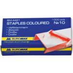Скобы для степлера №10 Buromax, цветные, 1000 шт (BM.4421)