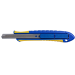 Нож универсальный Buromax 9мм, мет. направ-я, пласт. корпус, возвратный механизм (BM.4603)