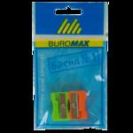 Точилка Buromax, прямоугольный пластиковый корпус, комплект 2 шт., блистер, ассорти (BM.4701-99)