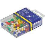 Кнопки-гвоздики цветные Buromax, пласт. контейнер, 50 шт (BM.5150)