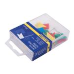 Кнопки-гвоздики цветные Buromax, флажки, пласт. контейнер, 30 шт (BM.5152)