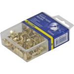 Кнопки золотистые Buromax, пласт. контейнер, 100 шт ( BM.5175)