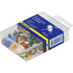 Кнопки цветные Buromax, пласт. контейнер, 100 шт (BM.5176)