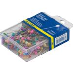 Шпильки цветные Buromax, пласт. контейнер, 34 мм, 200 шт (BM.5150)