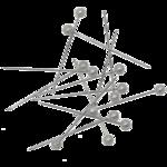 Булавки белые Buromax, 34 мм, 80 шт (BM.5252)