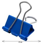 Биндеры Buromax, 25 мм, 12 шт, туба, синий (BM.5357-02)