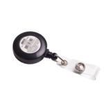 Клип-рулетка для бейджа Buromax черная (BM.5419)