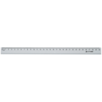 Линейка алюминиевая Buromax, 30 см, серебро (BM.5800-30)