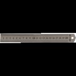 Линейка стальная Buromax, 20 см (BM.5810-20)