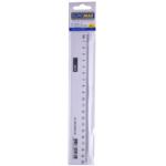Линейка пластиковая Buromax, 20 см, прозрачная (BM.5826-20)