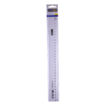 Линейка пластиковая Buromax, 30 см, прозрачная (BM.5826-30)