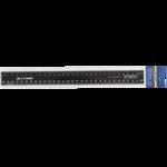 Линейка пластиковая Buromax, 30 см, черная (BM.5827-30)