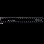 Линейка пластиковая Buromax, 20 см, черная (BM.5830-20)
