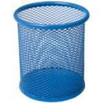 Подставка для ручек Buromax круглая 80х80х97мм, металлическая, синий (BM.6202-02)
