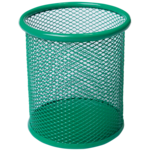 Подставка для ручек Buromax круглая 80х80х97мм, металлическая, зеленый (BM.6202-04)