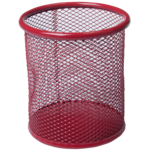 Подставка для ручек Buromax круглая 80х80х97мм, металлическая, красный (BM.6202-05)