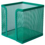 Бокс для бумаги Buromax 100х100x100мм, металлический, зеленый (BM.6215-04)