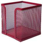 Бокс для бумаги Buromax 100х100x100мм, металлический, красный (BM.6215-05)