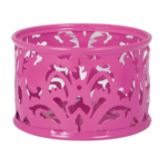 Подставка для скрепок Buromax Barocco, металл, розовый (BM.6222-10)