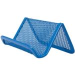 Подставка для визиток Buromax 95x80x45мм, металлическая, синий (BM.6225-02)