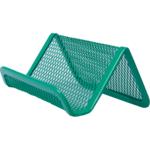 Подставка для визиток Buromax 95x80x45мм, металлическая, зеленый (BM.6225-04)