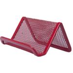 Подставка для визиток Buromax 95x80x45мм, металлическая, красный (BM.6225-05)