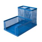 Органайзер настольный металлический Buromax 104x153x98 мм Синий (BM.6242-02)