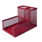 Органайзер настольный металлический Buromax 104x153x98 мм Красный (BM.6242-05)