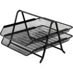 Лоток для бумаг горизонтальный 2 в 1 Buromaх, металлический, черный (BM.6250-01)