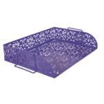 Лоток для бумаг горизонтальный Buromaх Barocco, металлический, фиолетовый (BM.6253-07)