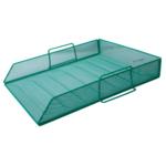 Лоток горизонтальный Buromax 335х275х78 мм, металлический, зеленый (BM.6254-04)