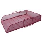 Лоток горизонтальный Buromax 335х275х78 мм, металлический, красный (BM.6254-05)
