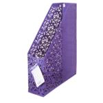 Лоток для бумаг вертикальный Buromaх Barocco, металлический, фиолетовый (BM.6262-07)