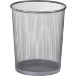 Корзина для бумаг круглая Buromax, 10 л, металл, серебро (BM.6270-24)