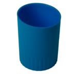 Стакан пластиковый для письменных принадлежностей Buromax Jobmax, синий (BM.6351-02)