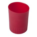 Стакан пластиковый для письменных принадлежностей Buromax Jobmax, красный (BM.6351-05)