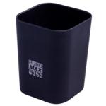 Стакан пластиковый Buromax RUBBER TOUCH для письменных принадлежностей, черный (BM.6352-01)