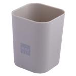 Стакан пластиковый Buromax RUBBER TOUCH для письменных принадлежностей, серый (BM.6352-09)
