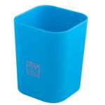 Стакан пластиковый Buromax RUBBER TOUCH для письменных принадлежностей, голубой (BM.6352-14)