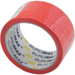 Скотч упаковочный Buromax, 48 мм, 35 м, 45 мкм, красный (BM.7007-05)