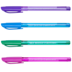 Ручка масляная Buromax Silk, синяя (BM.8358-01)