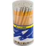 Карандаш графитовый Buromax, HB, ластик, желтый (BM.8500)
