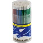 Карандаш графитовый Buromax, HB, ластик, ассорти, металлик (BM.8507)