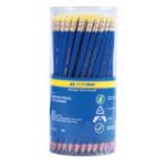 Карандаш графитовый Buromax, HB, ластик, пластик, синий (BM.8514)
