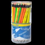 Карандаш графитовый Buromax Neon НВ с ластиком неоновый корпус (BM.8520)
