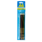 Набор с 4-х графитовых карандашей Buromax Boss HB без ластика (BM.8538-4)