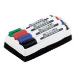 Комплект с 4-х маркеров для сухостираемых досок и губки Buromax (BM.8800-84)