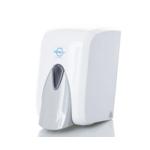Дозатор Solaris для мыла-пены 0,5 л кнопочный белый (F.5)