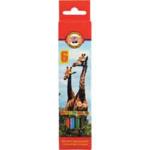 Карандаши цветные Koh-i-Noor Зоопарк KR3551, 18 цветов