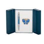 Набор подарочный Langres Papillon (ручка шариковая и крючок для сумки) Синий (LS.122010-02)